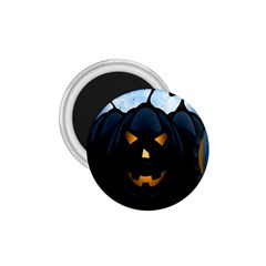 Halloween Pumpkin Dark Face Mask Smile Ghost Night 1 75  Magnets by Alisyart