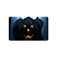 Halloween Pumpkin Dark Face Mask Smile Ghost Night Magnet (name Card)
