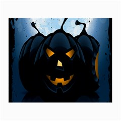 Halloween Pumpkin Dark Face Mask Smile Ghost Night Small Glasses Cloth (2 Side)