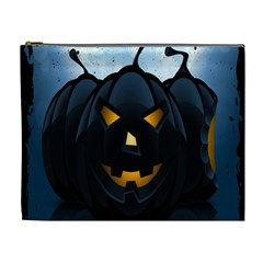 Halloween Pumpkin Dark Face Mask Smile Ghost Night Cosmetic Bag (xl)