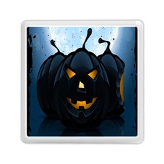 Halloween Pumpkin Dark Face Mask Smile Ghost Night Memory Card Reader (square)