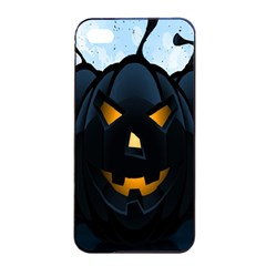 Halloween Pumpkin Dark Face Mask Smile Ghost Night Apple Iphone 4/4s Seamless Case (black) by Alisyart
