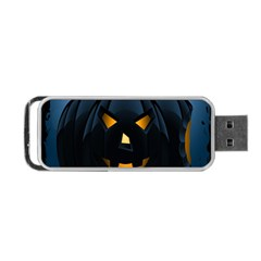 Halloween Pumpkin Dark Face Mask Smile Ghost Night Portable Usb Flash (two Sides) by Alisyart