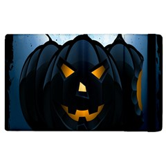 Halloween Pumpkin Dark Face Mask Smile Ghost Night Apple Ipad 2 Flip Case by Alisyart