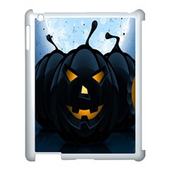 Halloween Pumpkin Dark Face Mask Smile Ghost Night Apple Ipad 3/4 Case (white)