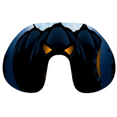 Halloween Pumpkin Dark Face Mask Smile Ghost Night Travel Neck Pillows