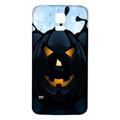 Halloween Pumpkin Dark Face Mask Smile Ghost Night Samsung Galaxy S5 Back Case (white) by Alisyart