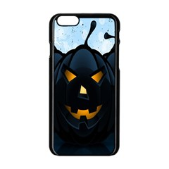 Halloween Pumpkin Dark Face Mask Smile Ghost Night Apple Iphone 6/6s Black Enamel Case