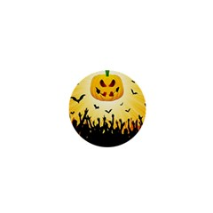 Halloween Pumpkin Bat Party Night Ghost 1  Mini Magnets