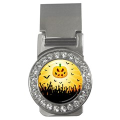 Halloween Pumpkin Bat Party Night Ghost Money Clips (cz)  by Alisyart