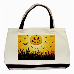 Halloween Pumpkin Bat Party Night Ghost Basic Tote Bag (two Sides) by Alisyart