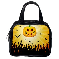 Halloween Pumpkin Bat Party Night Ghost Classic Handbags (one Side) by Alisyart