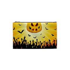 Halloween Pumpkin Bat Party Night Ghost Cosmetic Bag (small)
