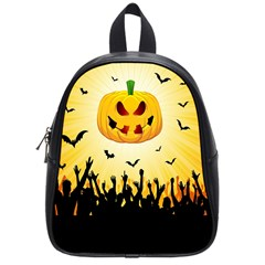 Halloween Pumpkin Bat Party Night Ghost School Bag (small) by Alisyart