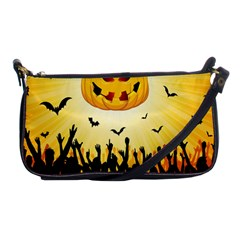 Halloween Pumpkin Bat Party Night Ghost Shoulder Clutch Bags