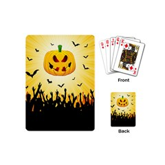 Halloween Pumpkin Bat Party Night Ghost Playing Cards (mini)  by Alisyart
