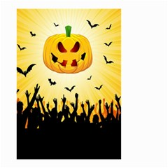 Halloween Pumpkin Bat Party Night Ghost Small Garden Flag (two Sides)