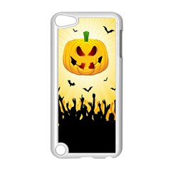 Halloween Pumpkin Bat Party Night Ghost Apple Ipod Touch 5 Case (white)