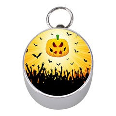 Halloween Pumpkin Bat Party Night Ghost Mini Silver Compasses by Alisyart