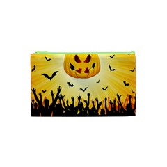 Halloween Pumpkin Bat Party Night Ghost Cosmetic Bag (xs)