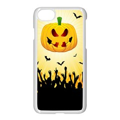 Halloween Pumpkin Bat Party Night Ghost Apple Iphone 8 Seamless Case (white) by Alisyart