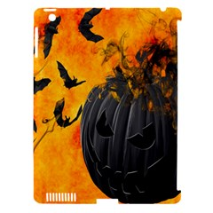 Halloween Pumpkin Bat Ghost Orange Black Smile Apple Ipad 3/4 Hardshell Case (compatible With Smart Cover) by Alisyart