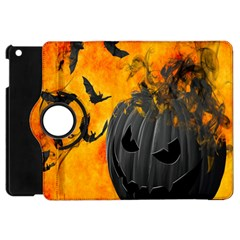 Halloween Pumpkin Bat Ghost Orange Black Smile Apple Ipad Mini Flip 360 Case by Alisyart