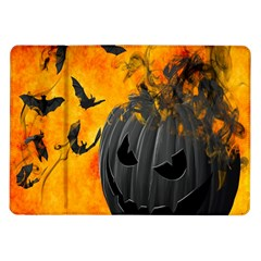 Halloween Pumpkin Bat Ghost Orange Black Smile Samsung Galaxy Tab 10 1  P7500 Flip Case