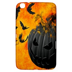 Halloween Pumpkin Bat Ghost Orange Black Smile Samsung Galaxy Tab 3 (8 ) T3100 Hardshell Case