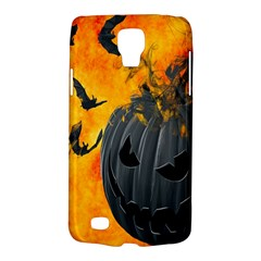 Halloween Pumpkin Bat Ghost Orange Black Smile Galaxy S4 Active