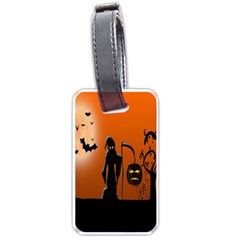 Halloween Sinister Night Moon Bats Luggage Tags (one Side)