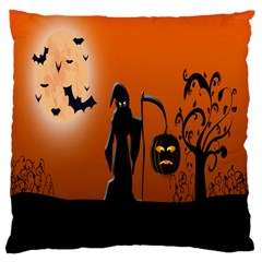 Halloween Sinister Night Moon Bats Large Cushion Case (one Side)