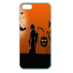 Halloween Sinister Night Moon Bats Apple Seamless Iphone 5 Case (color)