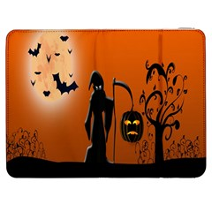 Halloween Sinister Night Moon Bats Samsung Galaxy Tab 7  P1000 Flip Case