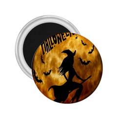 Halloween Wicked Witch Bat Moon Night 2 25  Magnets