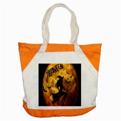 Halloween Wicked Witch Bat Moon Night Accent Tote Bag by Alisyart