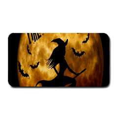 Halloween Wicked Witch Bat Moon Night Medium Bar Mats by Alisyart
