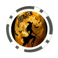 Halloween Wicked Witch Bat Moon Night Poker Chip Card Guard (10 Pack) by Alisyart