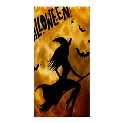 Halloween Wicked Witch Bat Moon Night Shower Curtain 36  X 72  (stall)  by Alisyart