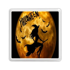 Halloween Wicked Witch Bat Moon Night Memory Card Reader (square)