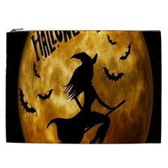 Halloween Wicked Witch Bat Moon Night Cosmetic Bag (xxl)  by Alisyart