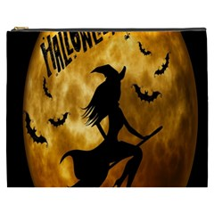 Halloween Wicked Witch Bat Moon Night Cosmetic Bag (xxxl)