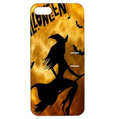 Halloween Wicked Witch Bat Moon Night Apple Iphone 5 Hardshell Case With Stand by Alisyart