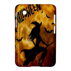 Halloween Wicked Witch Bat Moon Night Samsung Galaxy Tab 2 (7 ) P3100 Hardshell Case  by Alisyart