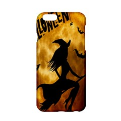 Halloween Wicked Witch Bat Moon Night Apple Iphone 6/6s Hardshell Case