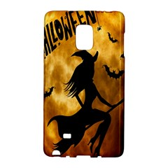 Halloween Wicked Witch Bat Moon Night Galaxy Note Edge by Alisyart