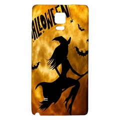 Halloween Wicked Witch Bat Moon Night Galaxy Note 4 Back Case