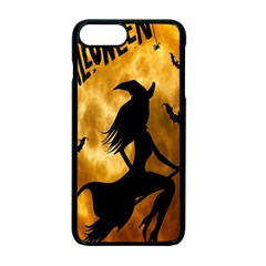 Halloween Wicked Witch Bat Moon Night Apple Iphone 7 Plus Seamless Case (black) by Alisyart
