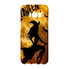 Halloween Wicked Witch Bat Moon Night Samsung Galaxy S8 Hardshell Case  by Alisyart