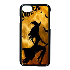 Halloween Wicked Witch Bat Moon Night Apple Iphone 8 Seamless Case (black) by Alisyart